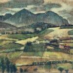 Monte Velino in un bellissimo disegno a pastello del 1939 di Carl Schmitt