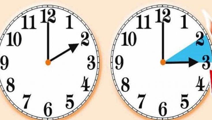 Da questa notte alle 2 torna l'ora legale, le lancette dovranno essere spostate un'ora in avanti