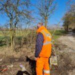 Tagliacozzo, la Segen procede alla pulizia di un fossato nel territorio di Villa San Sebastiano