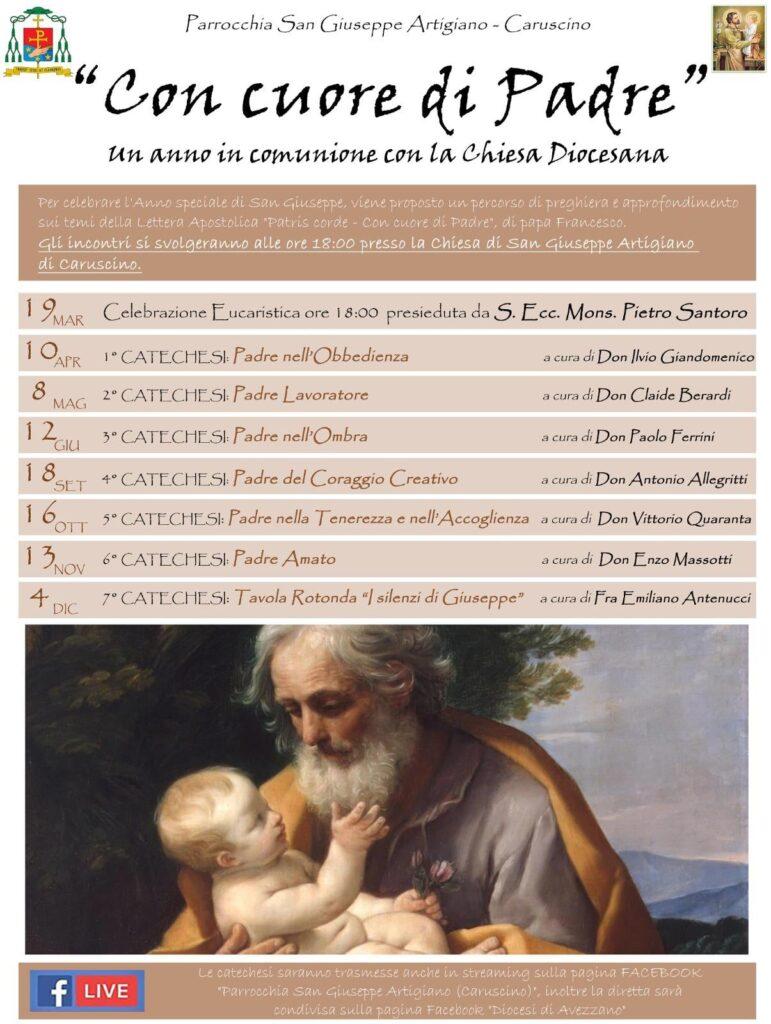 Un percorso di preghiera per celebrare l'anno speciale dedicato a San Giuseppe alla Parrocchia San Giuseppe di Caruscino