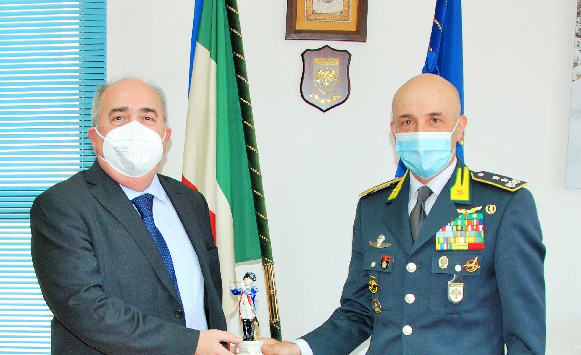 Mancini, Procuratore Generale di Corte di Appello de L'Aquila, in visita al Comando Regionale Abruzzo della Guardia di Finanza