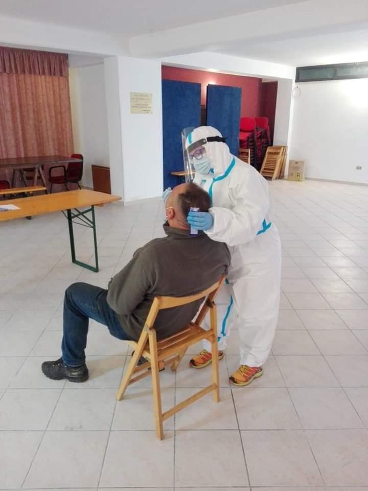 Esito giornata di screening a Sante Marie, 9 positivi su 80 tamponi