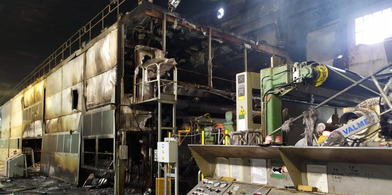Burgo, l'incendio costringe l'azienda a fermare la produzione del cartone. Allo studio standard di sicurezza più elevati di quelli previsti per legge