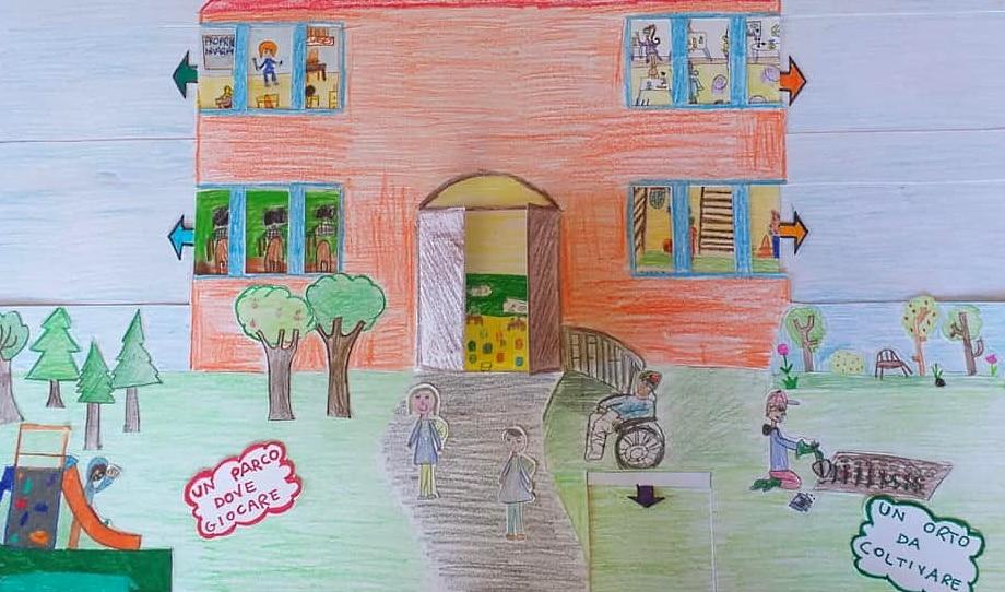 I bambini della primaria D.G. Tantalo di Tagliacozzo hanno disegnato la scuola che vorrebbero