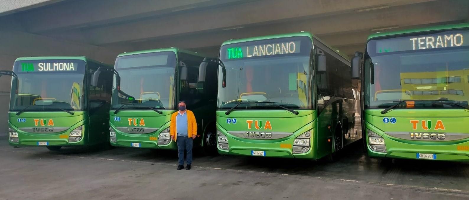 """Dodici nuovi mezzi nel parco TUA, Giuliante: """"Trasformazioni radicali per un nuovo modello di sviluppo sostenibile"""""""