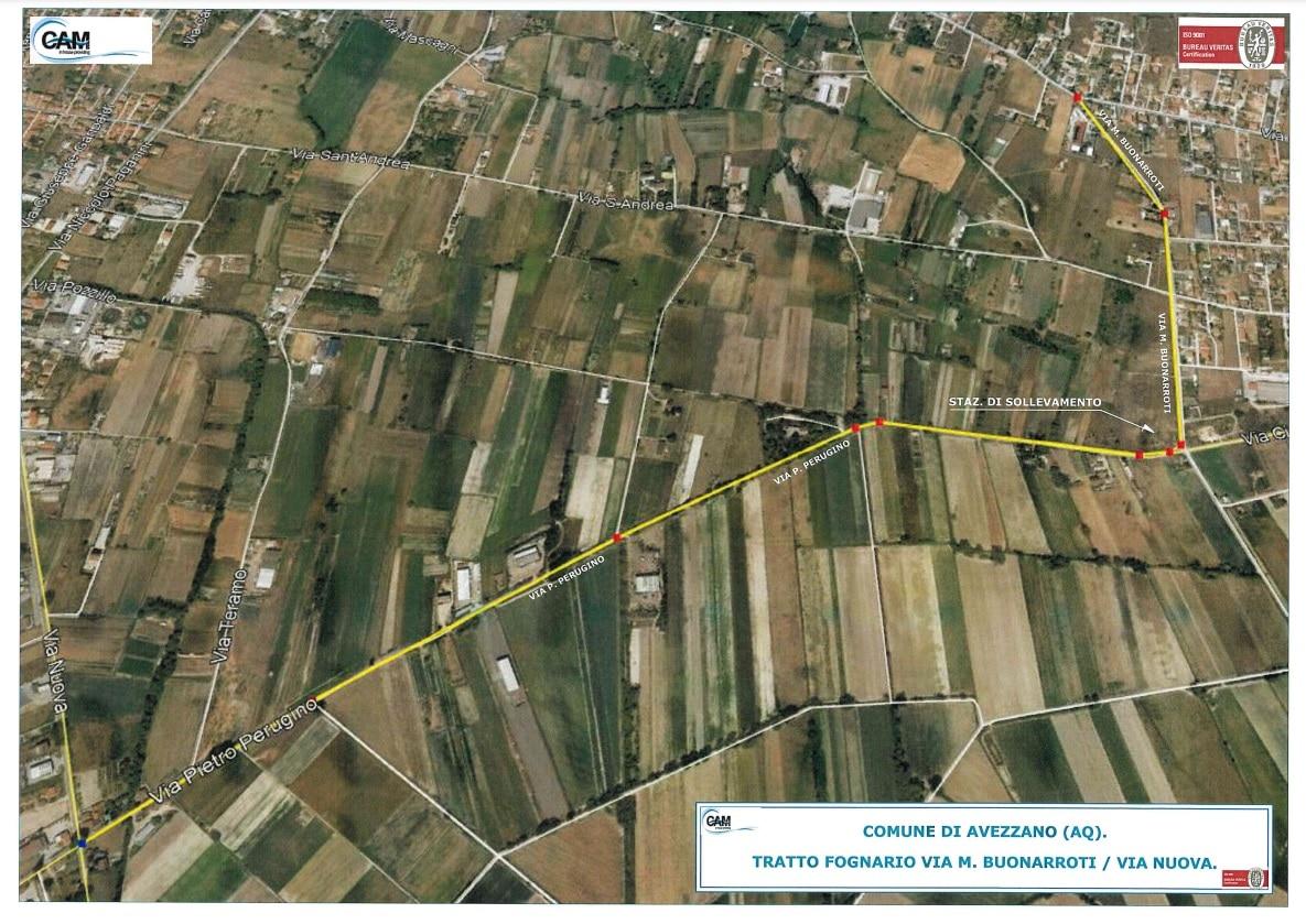 """Caruscino, impianto fognario di via Buonarroti operativo. Di Pangrazio: """"collettore a servizio della zona sud"""""""