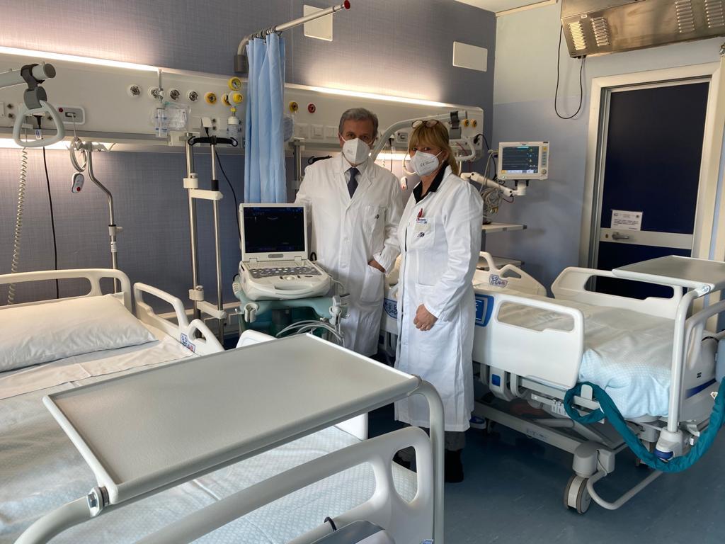 Inaugurati oggi 8 posti di terapia sub intensiva per potenziare la lotta alla pandemia all'ospedale di L'Aquila