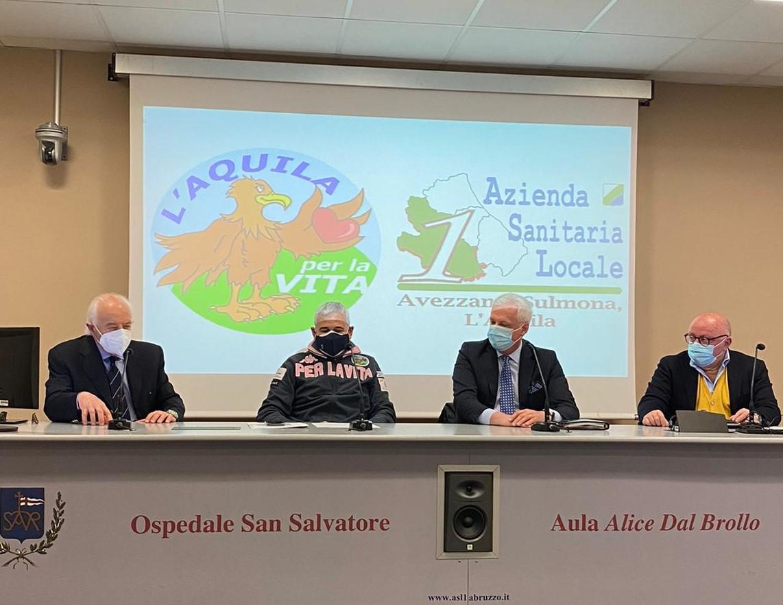 Covid: progetto di 'L'Aquila per la vita' a supporto Asl nella lotta alla pandemia