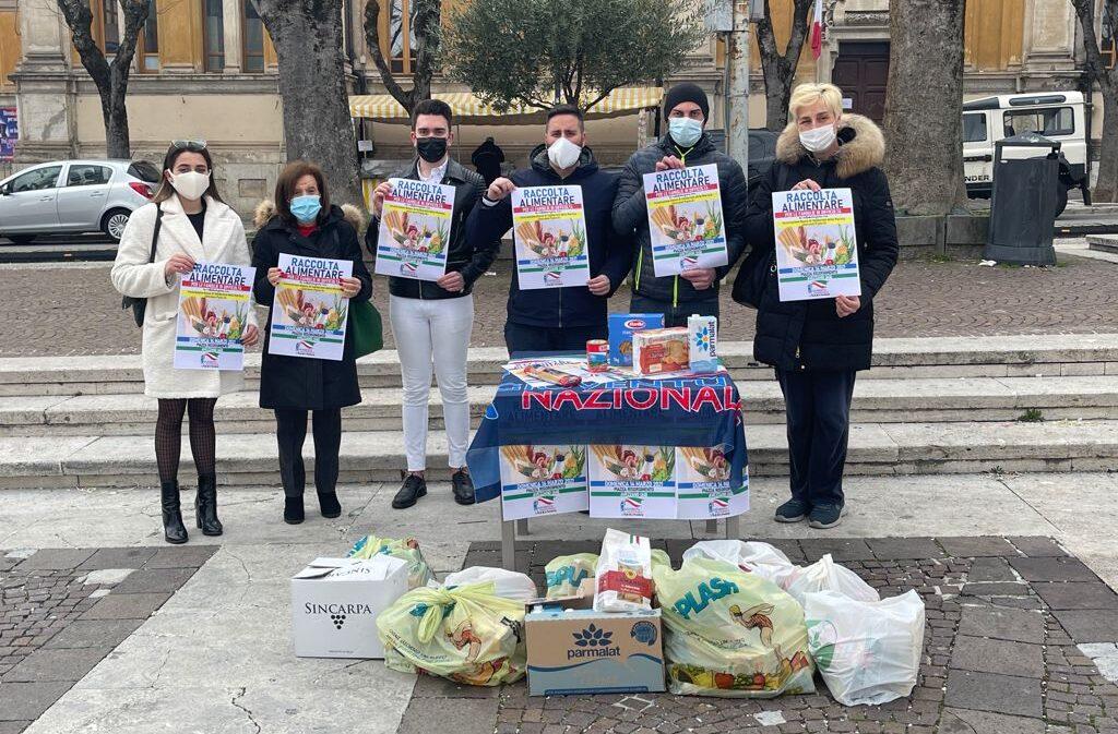 """Raccolta alimentare, Gioventù Nazionale: """"Non ci aspettavamo tanta generosità"""""""
