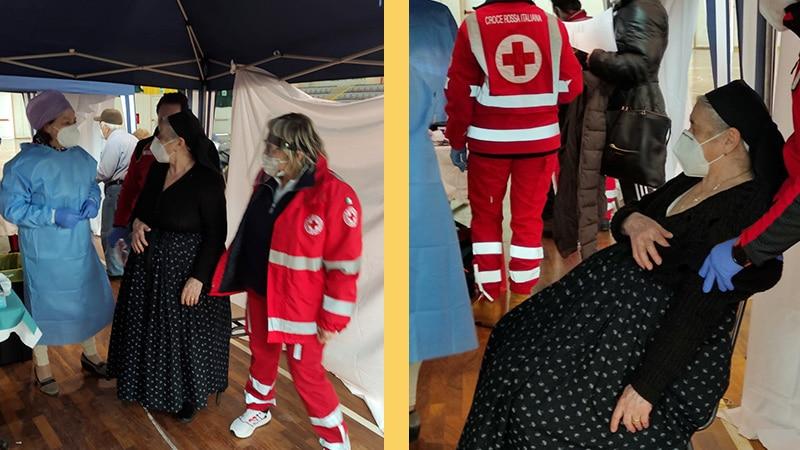 In Abruzzo il vaccino anti-Covid si fa indossando il costume tradizionale
