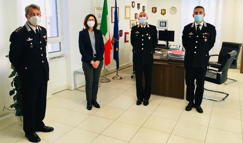Presentato Nucleo Carabinieri per la tutela del patrimonio culturale per l'Abruzzo e il Molise al Prefetto Torraco