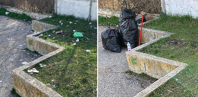 I ragazzi della Consulta dei Giovani di Trasacco ripuliscono il paese dai rifiuti abbandonati