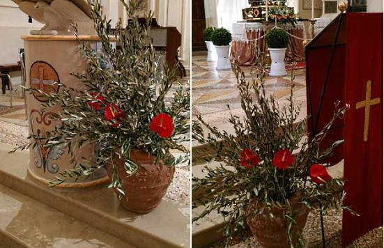 Rubati i rami d'ulivo nella Chiesa di Tagliacozzo. Don Ennio Grossi: