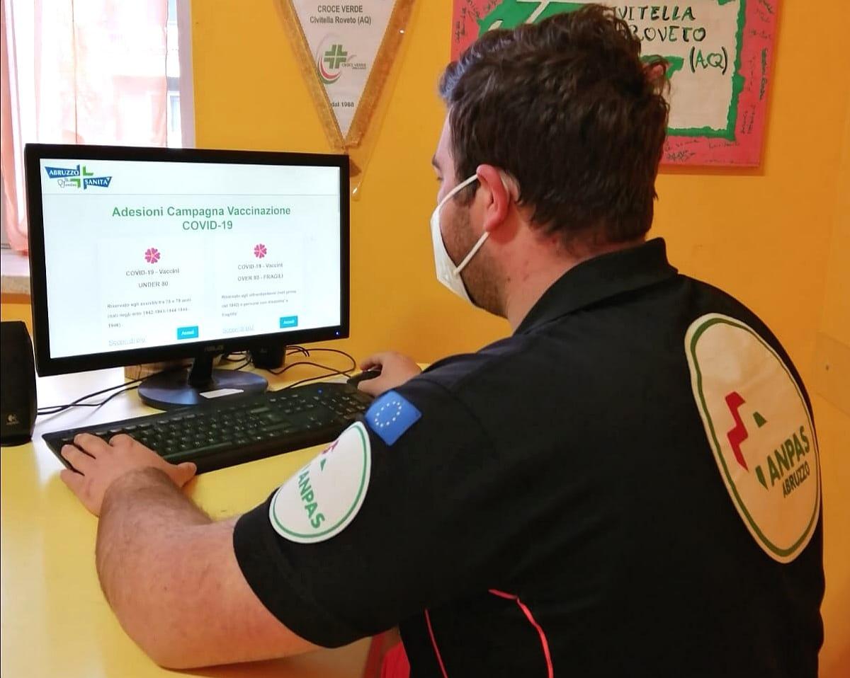 La Croce Verde di Civitella Roveto a disposizione dei cittadini per l'adesione alla campagna di vaccinazione anti-Covid-19