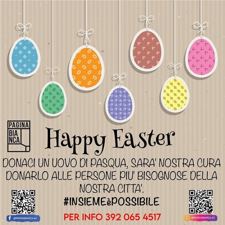 """Iniziativa benefica """"Happy Easter"""", donate le uova di Pasqua ai bambini più bisognosi"""