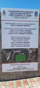 Cerchio, al via i lavori per la realizzazione del manto in erba sintetica dello stadio comunale Giuseppe Tofani