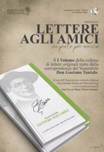 """Corrispondenza di Don Gaetano Tantalo, pubblicato il volume della collana di """"Lettere agli Amici"""""""