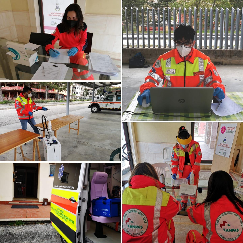 Lotta al Coronavirus, la Croce Verde di Civitella Roveto a fianco degli operatori sanitari e degli amministratori locali