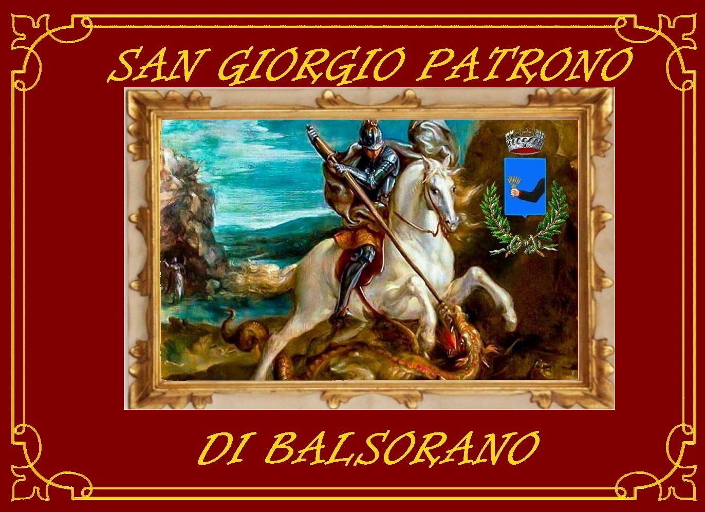 Balsorano festeggia il suo Patrono San Giorgio con un drappo rosso e dorato nelle finestre delle abitazioni