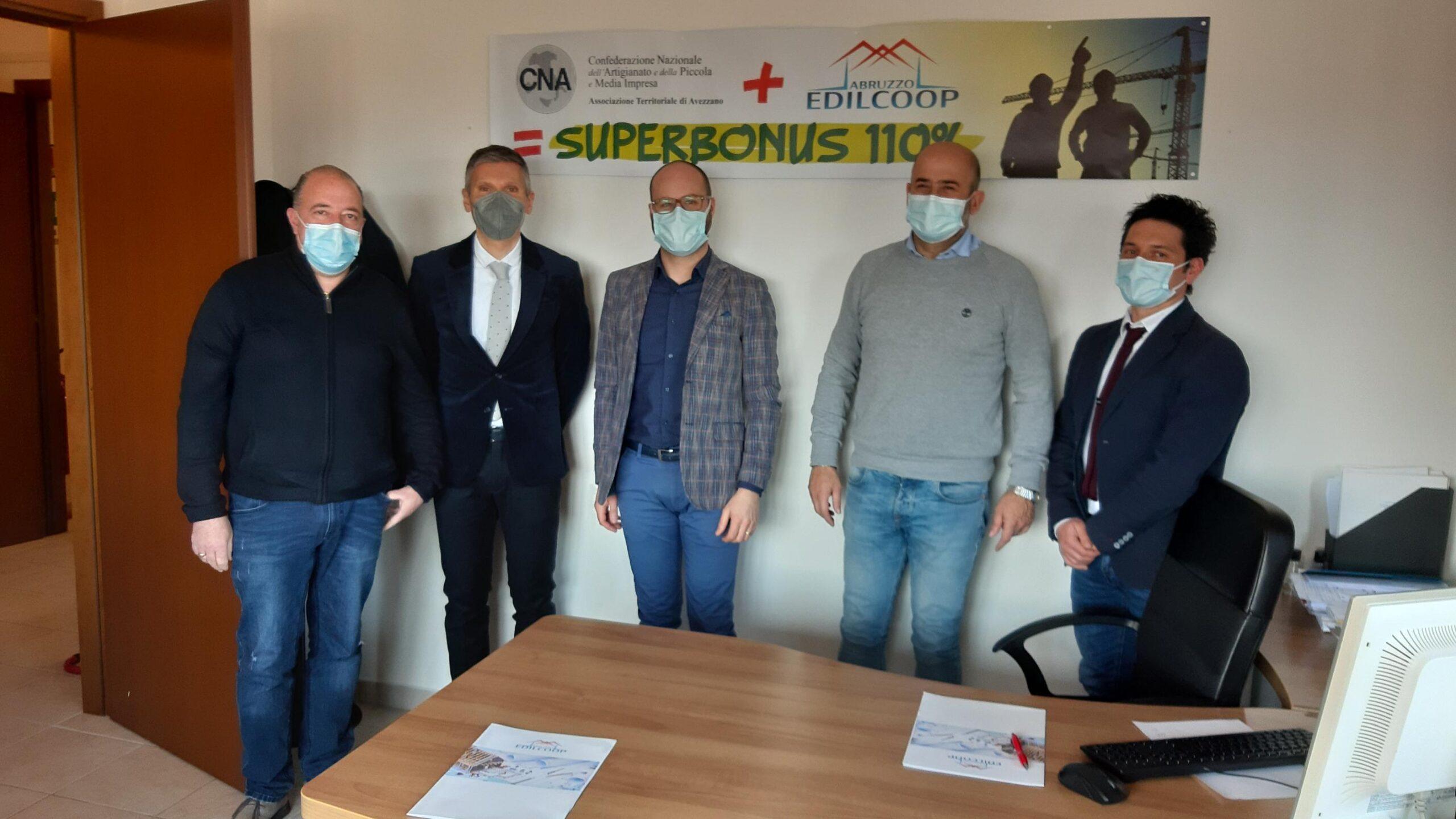 CNA Avezzano: siglato l'accordo con il Comune di Collarmele per il superbonus 110%