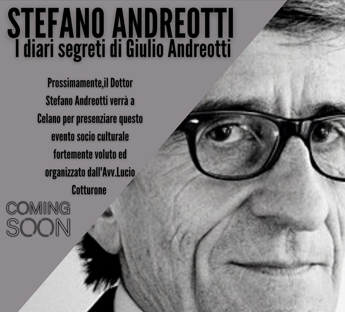 """Stefano Andreotti a Celano per presentare """"I diari segreti di Giulio Andreotti"""""""