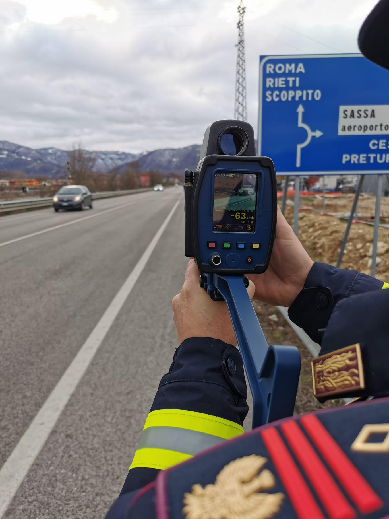 """""""Roadpol Speed"""", polizia stradale impegnata in controlli mirati per ridurre la velocità"""