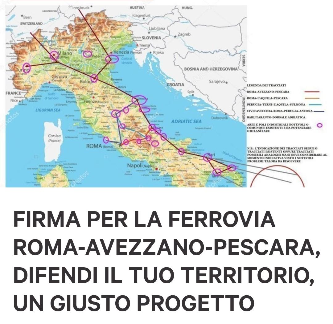 """""""Nessuno tocchi la ferrovia Roma-Avezzano-Sulmona-Pescara"""", la Marsica risponde all'Aquila lanciando la sua petizione"""