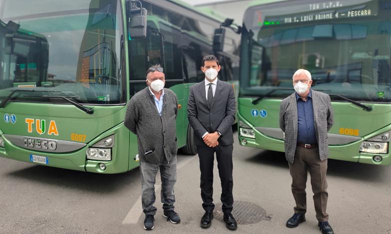 """Dieci nuovi bus nella flotta TUA.Giuliante: """"nuovi mezzi per gestire ancora più efficacemente la riapertura delle scuole"""""""