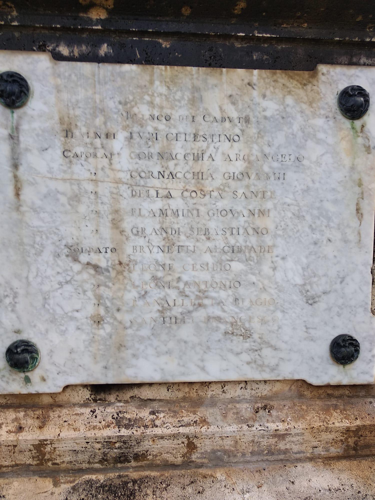 I trentasei caduti di Lecce nei Marsi nel primo conflitto mondiale