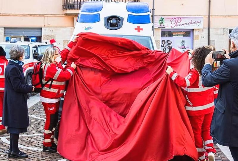 Entrata in funzione la nuova ambulanza Aquila86 della Croce Rossa Comitato di Carsoli