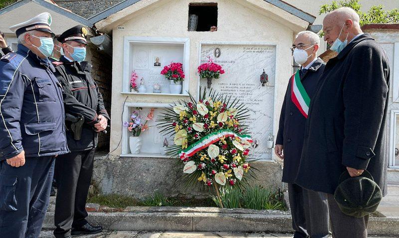 71° anniversario dell'Eccidio di Celano: il commissario Canale rende omaggio ad Agostino Paris e Antonio Berardicurti