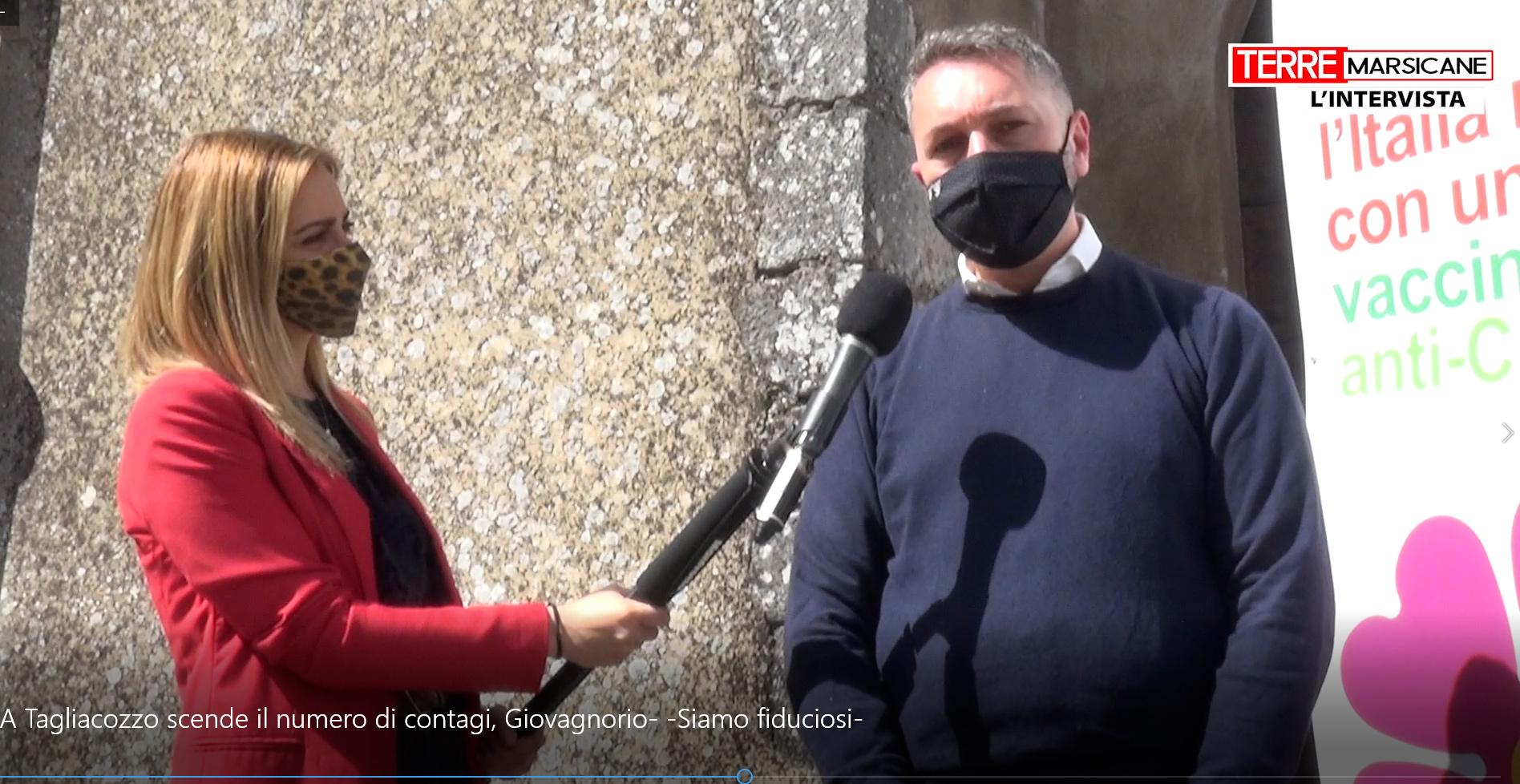 """A Tagliacozzo scende il numero di contagi, Giovagnorio: """"Siamo fiduciosi"""""""