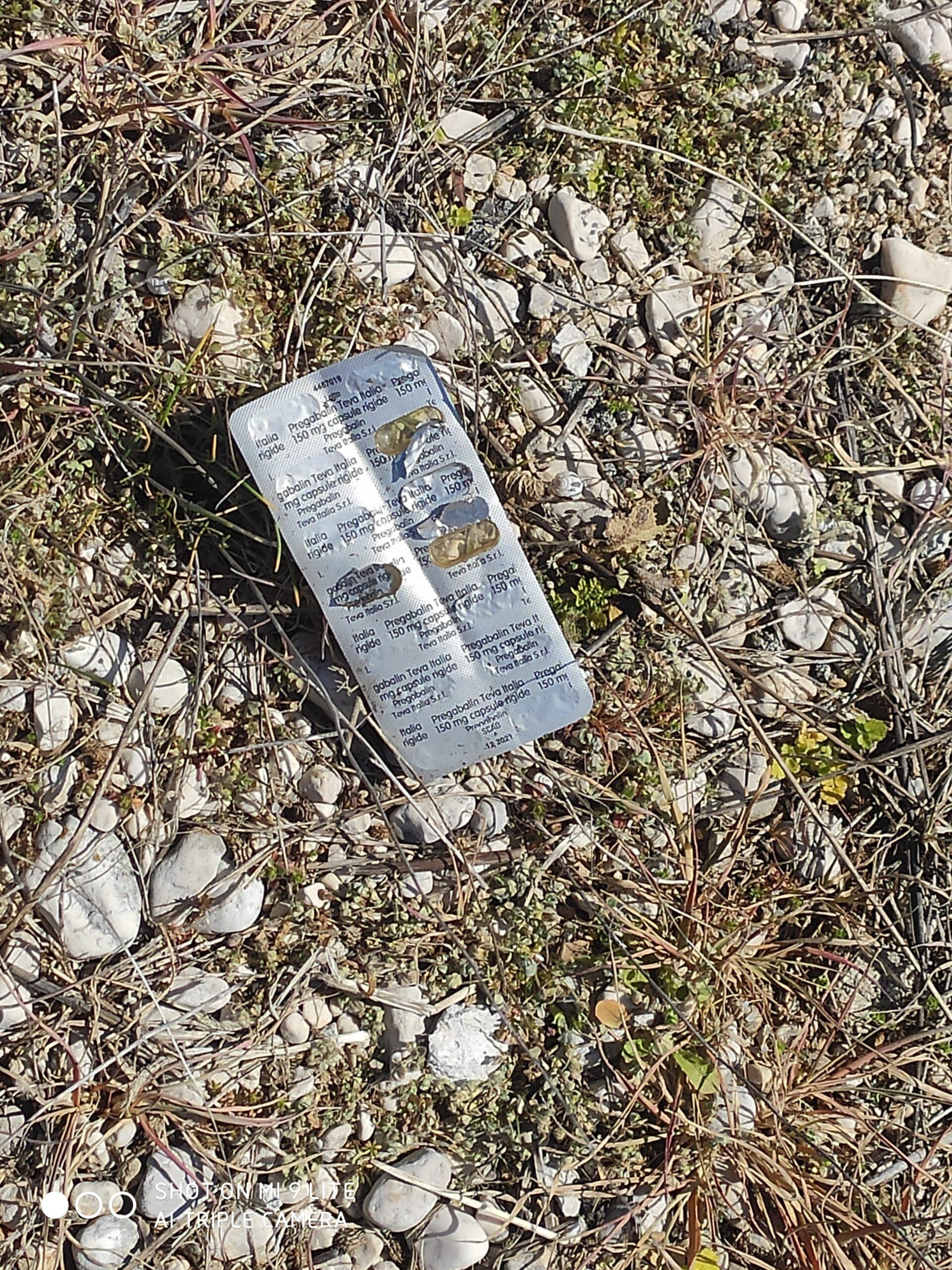 Nuova droga ad Avezzano : oltre al Metadone arriva anche il Pregabalin: flaconi e blister abbandonati nei pressi della pineta