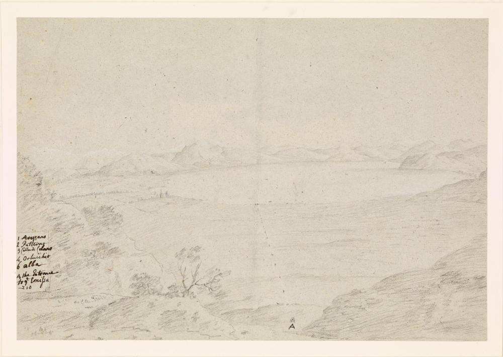 Il Lago Fucino in un prezioso disegno del Settecento attribuito a Richard Wilson