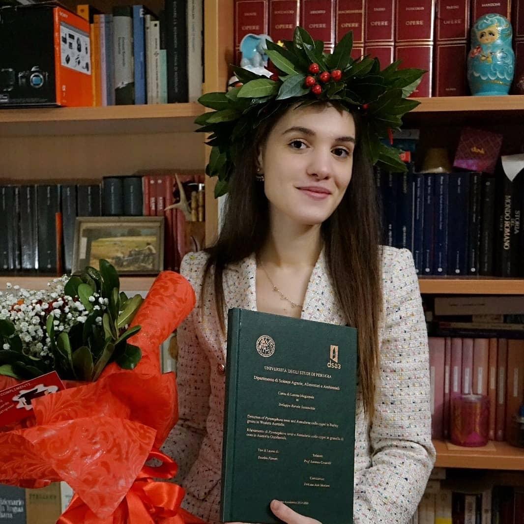 Laurea in Scienze Agrarie con 110 e lode più menzione d'onore per Eusebia Ferrari