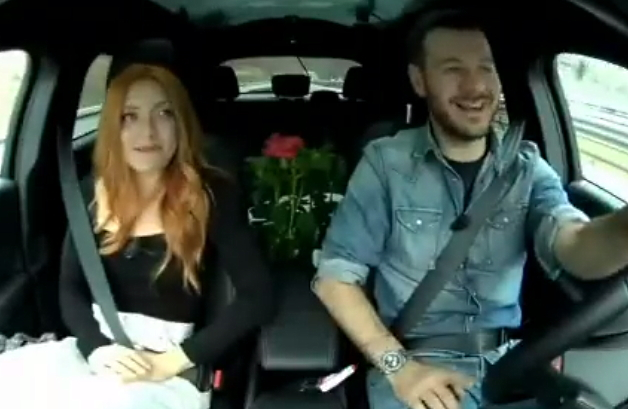 Noemi e Alessandro Cattelan alla scoperta delle bellezze di Aielli