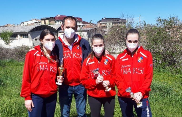 Grande successo del Circolo Scherma I Marsi nei Campionati Regionali di Sulmona