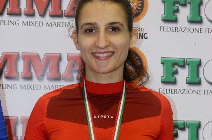 Sonia Fracassi al Campionato Europeo con la Nazionale Italiana Grappling FIGMMA