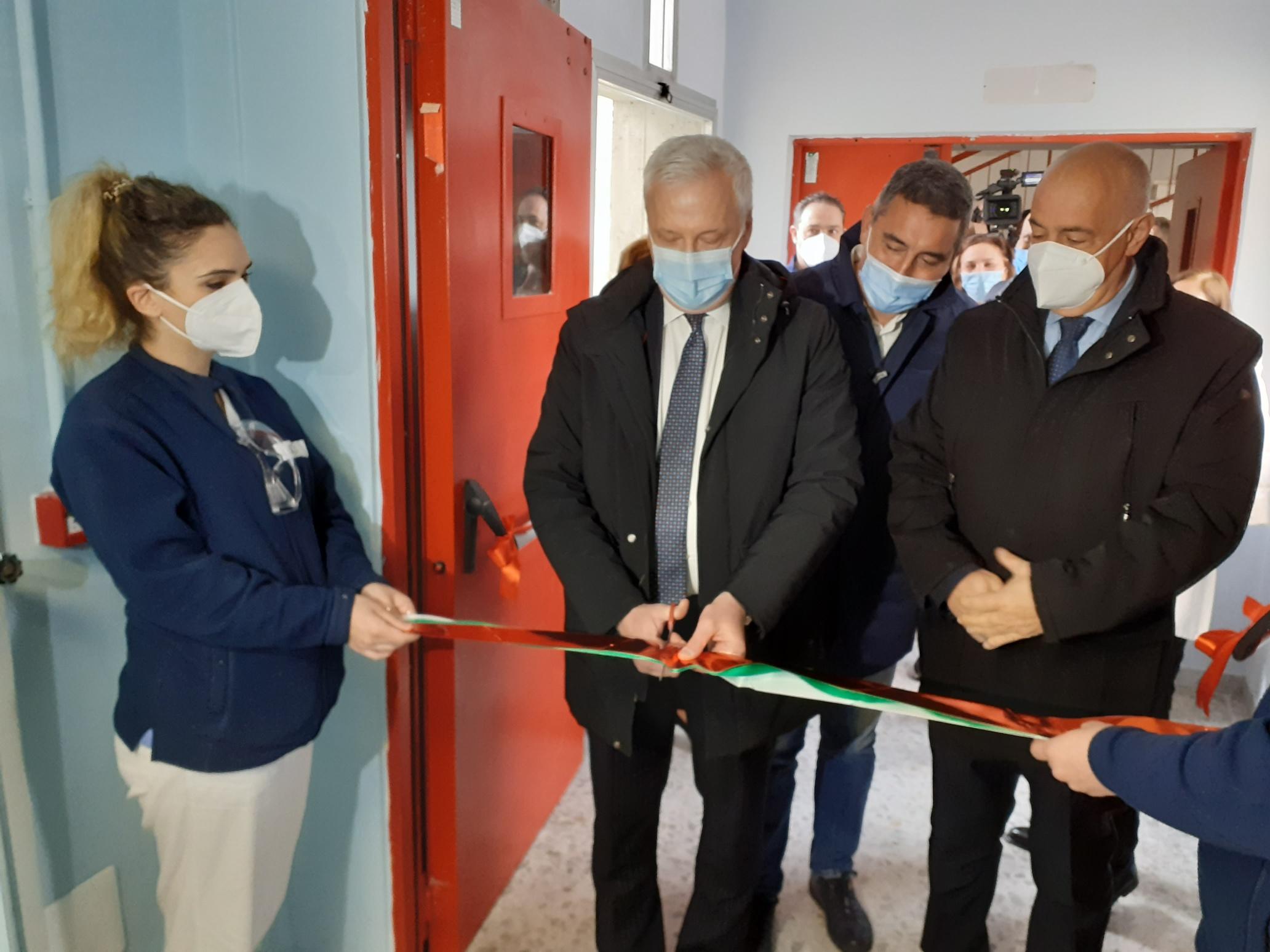 Ospedale di Avezzano, inaugurati questa mattina 6 posti letto di terapia sub intensiva