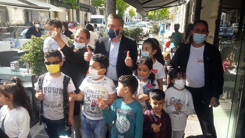 Il Sindaco Di Pangrazio incontra i bambini figli di marocchini residenti in Italia