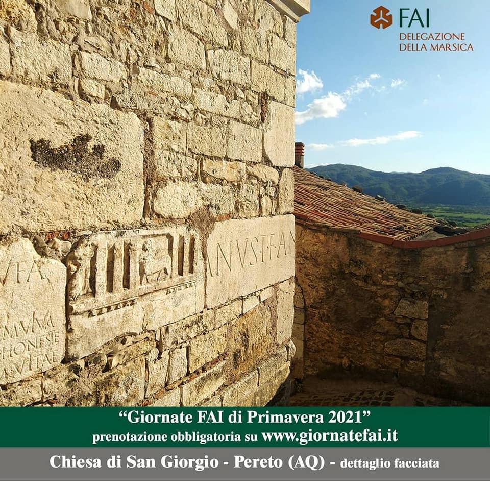 Giornate FAI di Primavera il 15 e il 16 maggio a Pereto e a Rocca di Botte