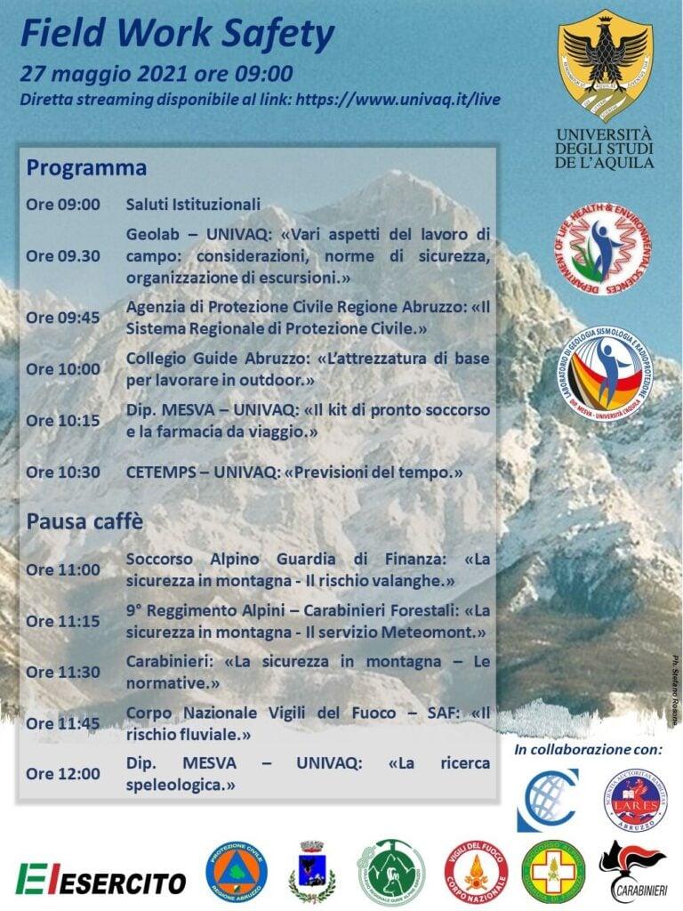 """Domani in diretta streaming il seminario """"Field Work Safety - La sicurezza nella ricerca sul campo"""""""