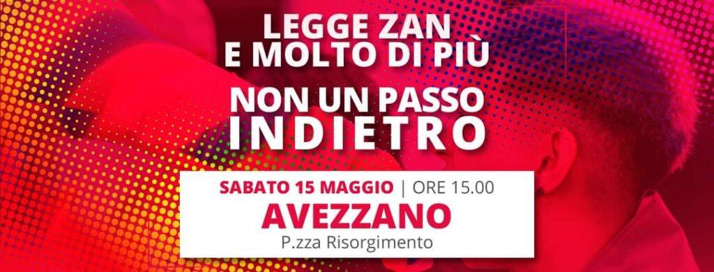 Avezzano, oggi alle 15 ci sarà una manifetazione pro legge Zan a piazza Risorgimento