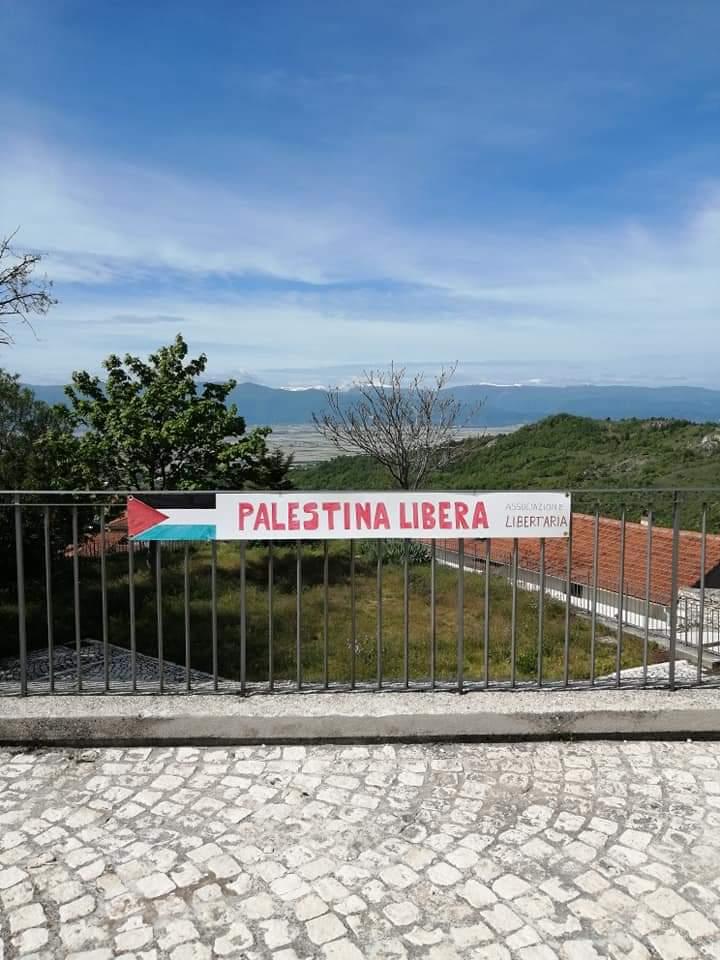 Aielli, l'appello di Libert'Aria per la Palestina libera