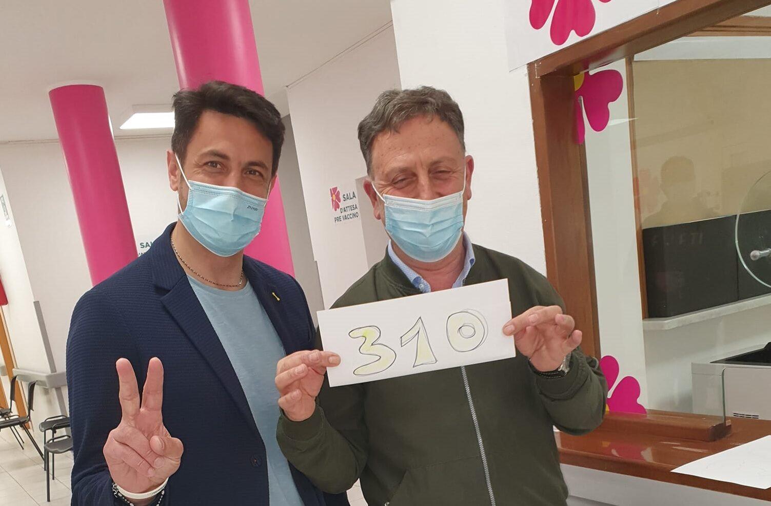 """Giornata da record per l'Hub vaccinale di Pescina, il Sindaco Zauri: """"Con queste persone il Covid19 comincia ad indietreggiare e a non far più paura"""""""