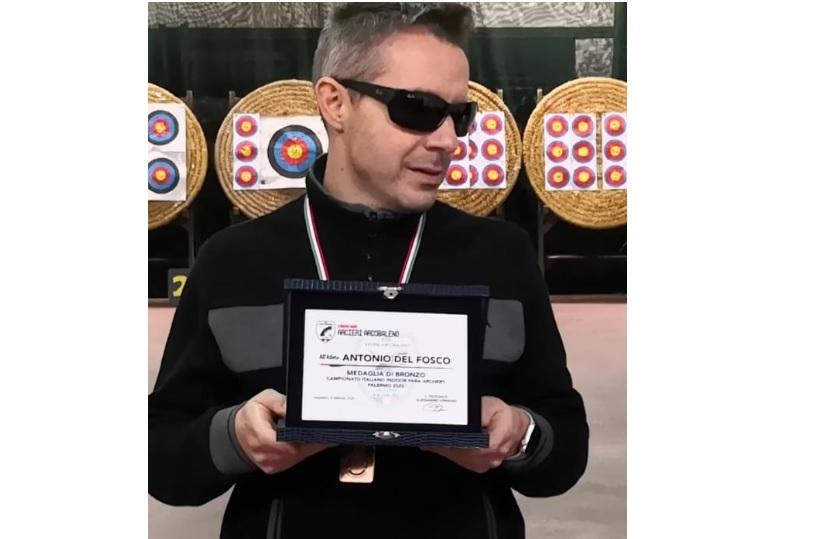 L'Arciere Antonio Del Fosco ai Campionati Italiani Para-Archery