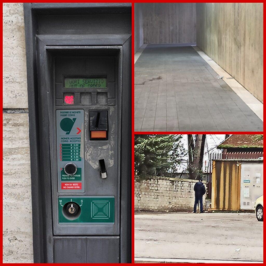 """Degrado nella stazione di Avezzano: il parcheggio ed il sottopassaggio """"sostituiscono"""" i bagni non funzionanti"""
