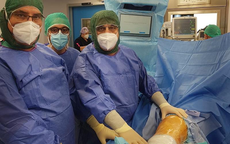 """INI Canistro: sensori speciali ad infrarossi per protesi al ginocchio con innovativa """"chirurgia navigata"""""""