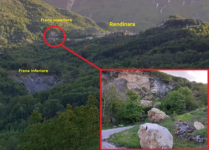 Viabilità Valle Roveto, frane e smottamenti lungo la SP66. Preoccupazione per le imponenti frane attive fra Rendinara e Castronovo