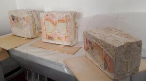 Restaurate porzioni di affreschi della Chiesa del borgo medievale di Alba Fucens